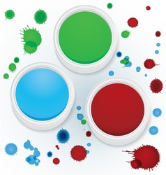 Paint jars vector image