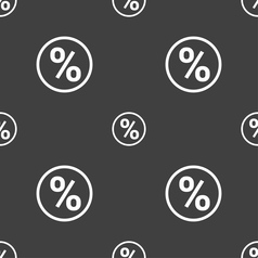 percentage discount icon sign Seamless pattern on vector image