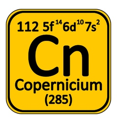 Periodic table element copernicium icon vector image