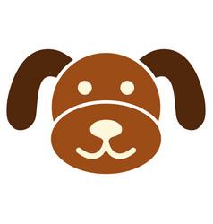 Puppy head flat icon vector