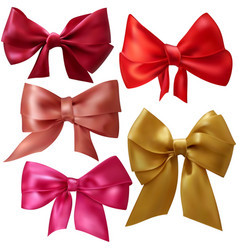 Satin bows vector