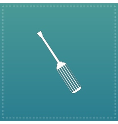 screwdriver icon sign and button vector image