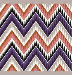 seamless tribal zig zag textured ethnic pattern vector image