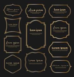 set of dividers vintage frames vintage labels vector image