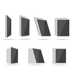 Set tablet computers vector
