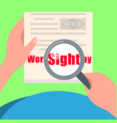 Sight day concept background flat style vector