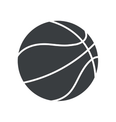 Silhouette basket ball sport symbol icon vector
