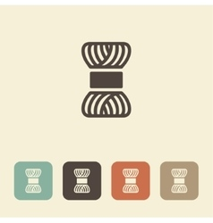 Skein of yarn for knitting icon vector image