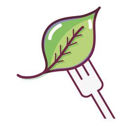 Spinach fresh natural food vector