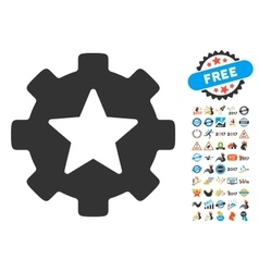 Star Favorites Options Gear Icon With 2017 Year vector