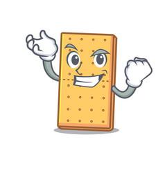Successful graham cookies character cartoon vector