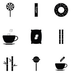 Sugar icon set vector