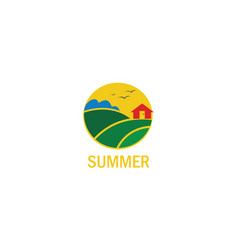 summer land logo vector image