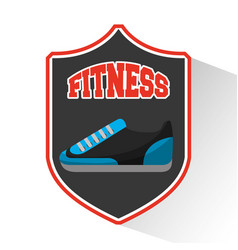Tennis shoes fitness icon vector