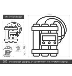 Tnt dynamite line icon vector
