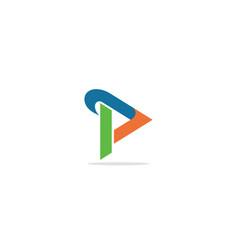 triangle shape circle colorful company logo vector image