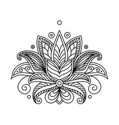 Turkish or persian floral design vector