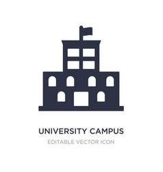 University campus icon on white background simple vector