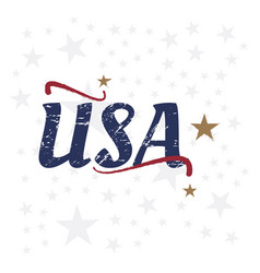 usa lettering vintage label badge with retro vector image