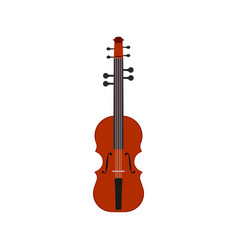 violin music instrument musical icon classical vector image