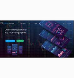 website design template for trading platform vector image