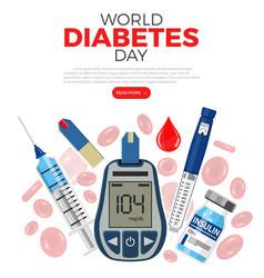 World diabetes day concept vector
