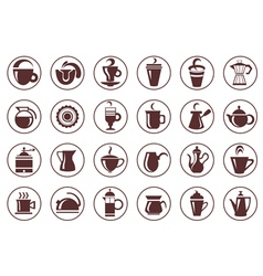 Coffee icon collection vector image