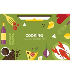 cooking desk header vector image vector image