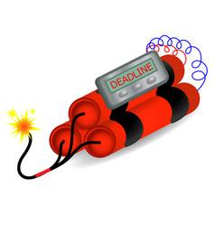 deadline time bomb explosion danger concept vector image