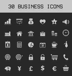 Light business design element icon set vector image vector image