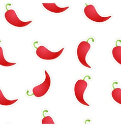 Seamless Chili Background vector image