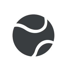 silhouette tennis ball sport icon vector image