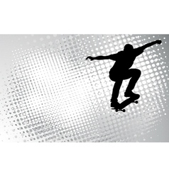 skateboarder on the abstract background vector image vector image