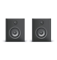 Speakers isolated on white vector image vector image