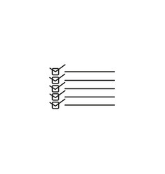 to do list line icon vector image vector image