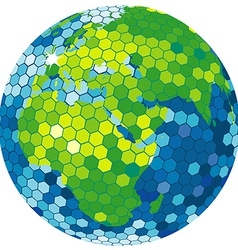 Earth globe disco ball vector image vector image