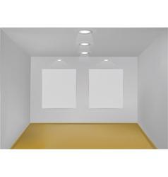 empty gallery room vector image vector image