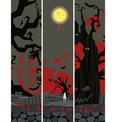 Halloween Banner Set Vertical vector image