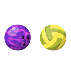 Sport balls isolated tournament win round bowling vector