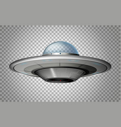 ufo in round shape vector image