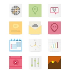Web icons 13 vector image vector image