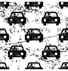 Car pattern grunge monochrome vector