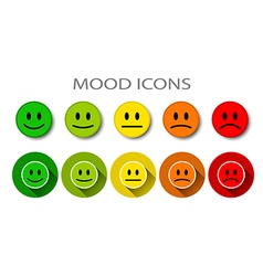 Different mood five levels vector image vector image