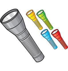 Flashlights vector image