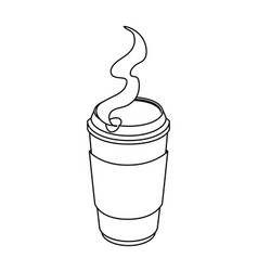 isolated hot coffee container vector image