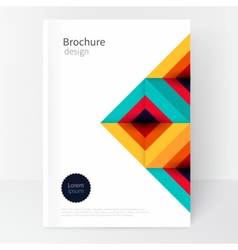Modern minimalistic cover template vector