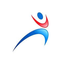 people icon sport yoga logo vector image