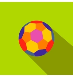 Colorful ball flat icon vector image vector image