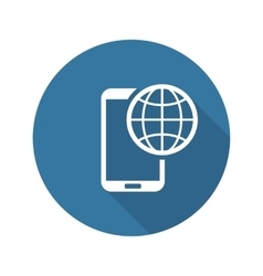 International Roaming Icon Flat Design vector image