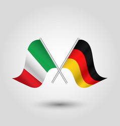 two crossed italian and german flags vector image vector image